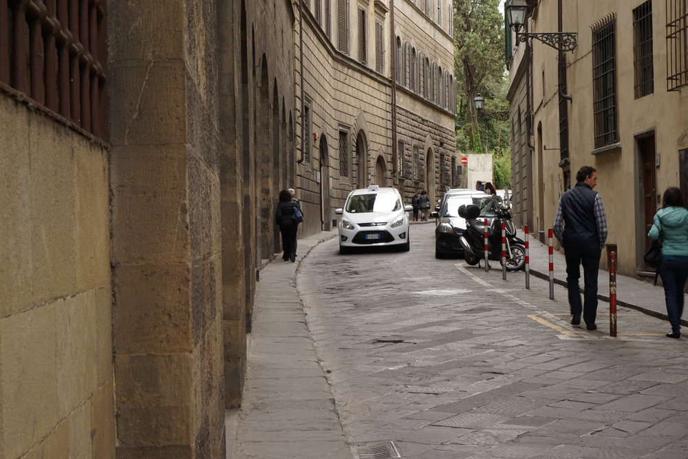 Fig 36: Very narrow road verge in Florence