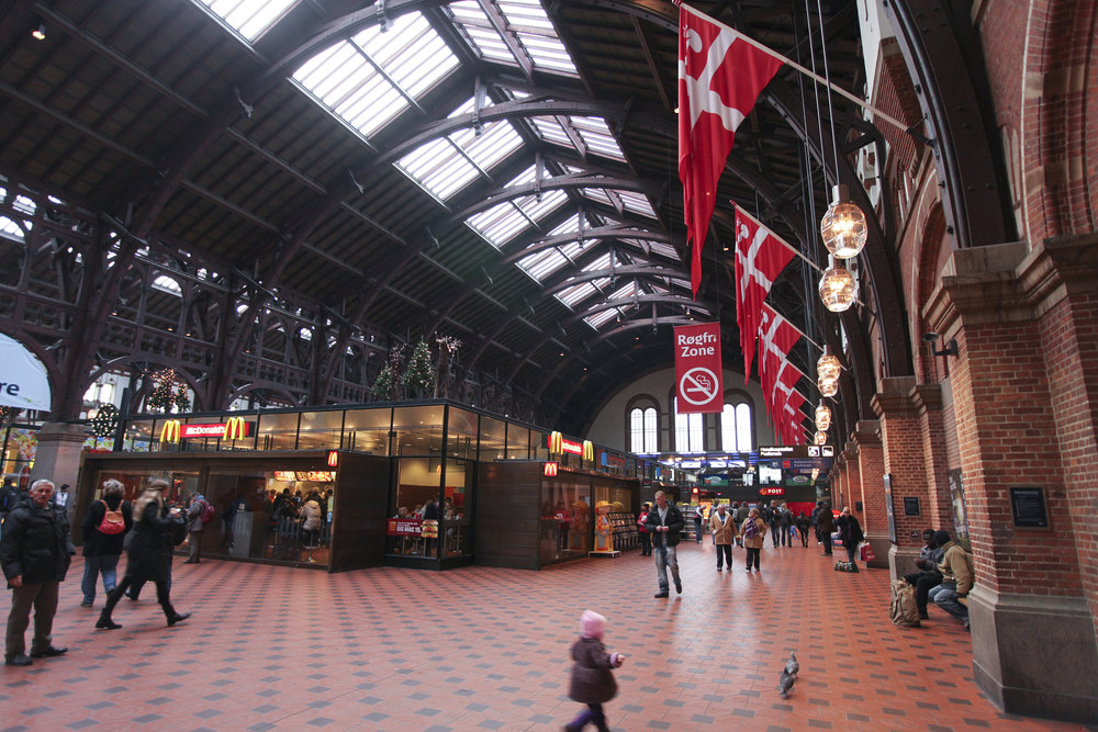 Fig 8: Copenhagen train station with a Macdonald's