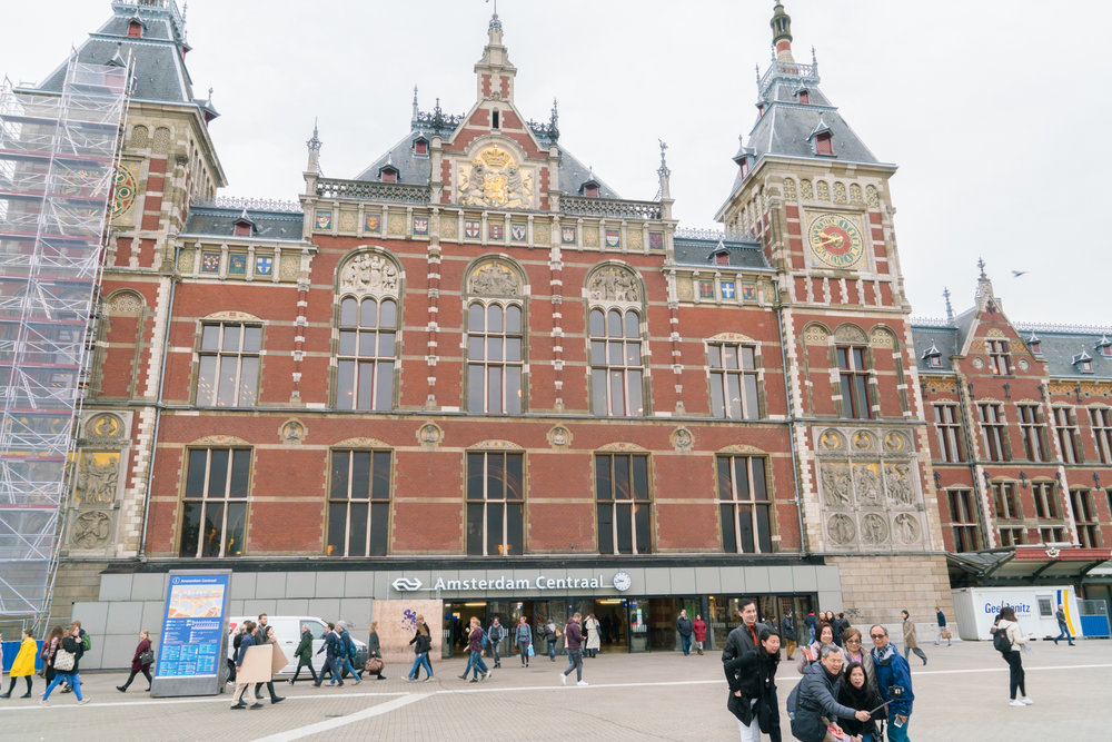 Fig 9: Open space in front of the Central train station in Amsterdam – a popular meeting place