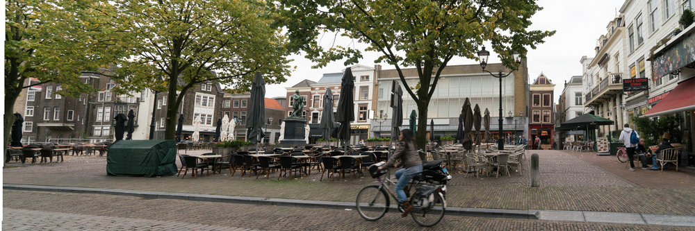Figs 15: Merge photo showing a Town square in Dordrecht that is almost completed acquired for out door dining