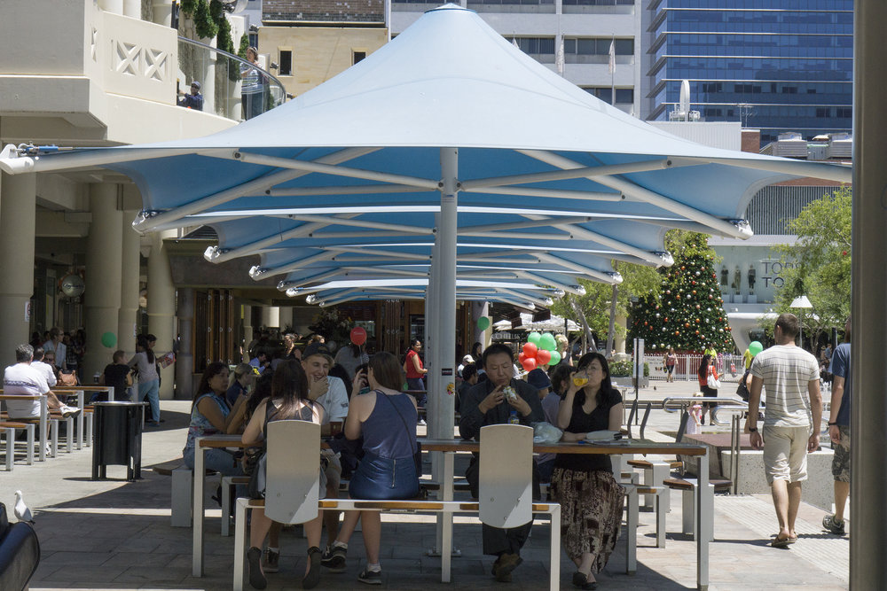 Figs 11, 12: Lunch time at Forrest Place