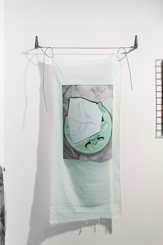 Buffalo ,digital print on paper, silk, washing line, angle brackets, 155 x 82cm  Photo: Document Photography   Enquire