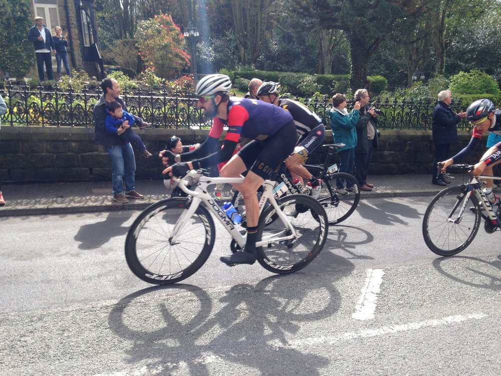 Exhibit 1. Wiggo 'competing' at the 2015 TdY on the Cow and Calf, Ilkley.