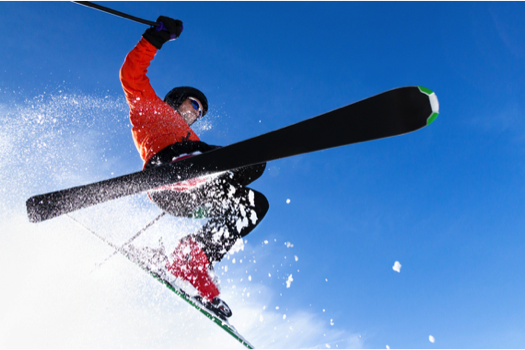 ACL rupture - A popular skiing injury.