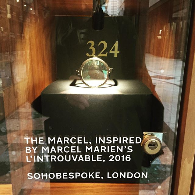 Extremely honoured to be on display alongside English greats of the eyewear scene at the St. James Market Pavilion. Retrospective: London, Spectacles and half a Millenia will run for three months. It's free.  Thank you very much @cubitts.  And huge thanks to @chreees @elizabethkpm 👏