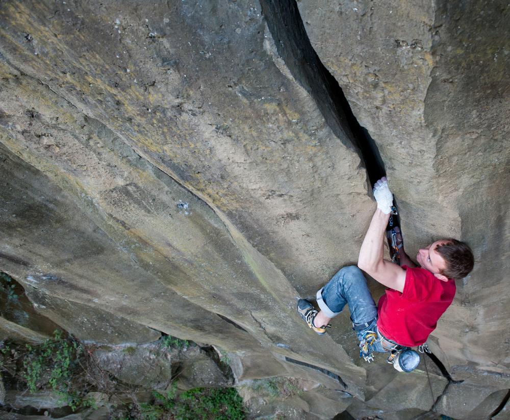 Crack klimmen met vuistverklemming