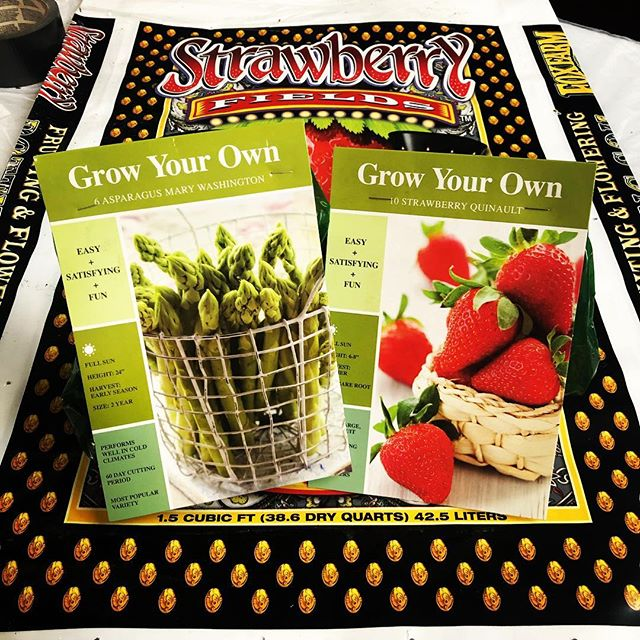 Potato, strawberry, asparagus and onion starts are here and ready to plant! More cool weather veggie plants will be in soon.