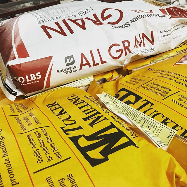 We will no longer be selling Traditions and All-Grain chicken feeds, and will begin carrying Tucker Milling brand chicken feeds.  It has recently come to our attention that Traditions and All-Grain are brands manufactured by Cargill, Inc., the global agricultural commodities trader.  As you know, Neighbors Feed & Seed strives to carry products that promote the health and well-being of you and your animals. We feel that carrying Cargill brands does not help us meet that goal, as it's come to light Cargill is a subsidiary of Monsanto.  We will continue to carry New Country Organics (our best seller), and will expand our inventory of affordable chicken feed with the @tuckermillingfeeds brands, which are manufactured and headquartered in Alabama.