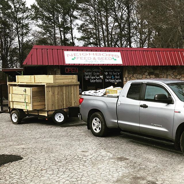 A truck bed full of soil for Smyrna Elementary's learning garden and a trailer full of new raised garden boxes for Nickajack Elementary's learning garden. We are proud to be partners in education with our local schools.