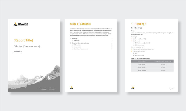ms word report template