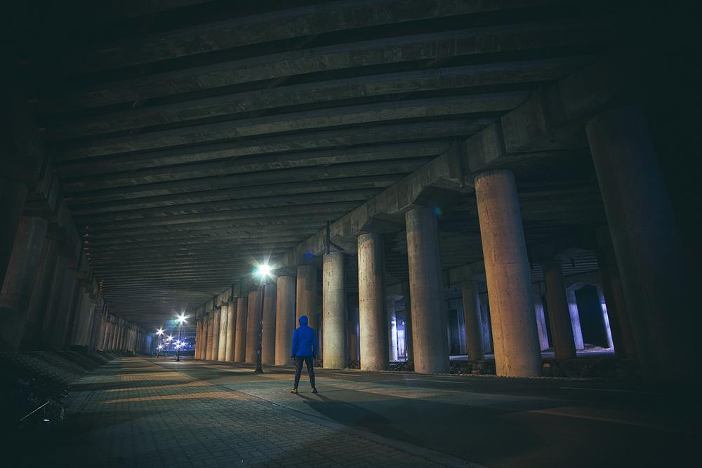 Trolls live Under Bridges (Shadows: Green) (Highlights: Purple)