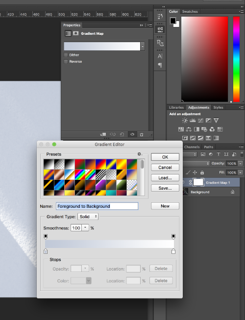 If you click on the gear you can load more gradient maps. Photoshop has some preinstalled maps in there (click append to add onto existing gradient choices).