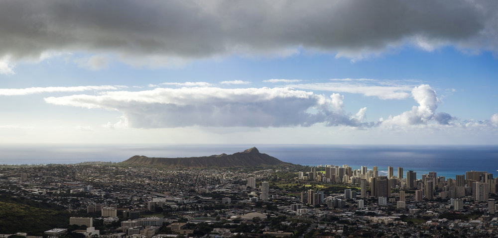 The Clouds over Diamond Head