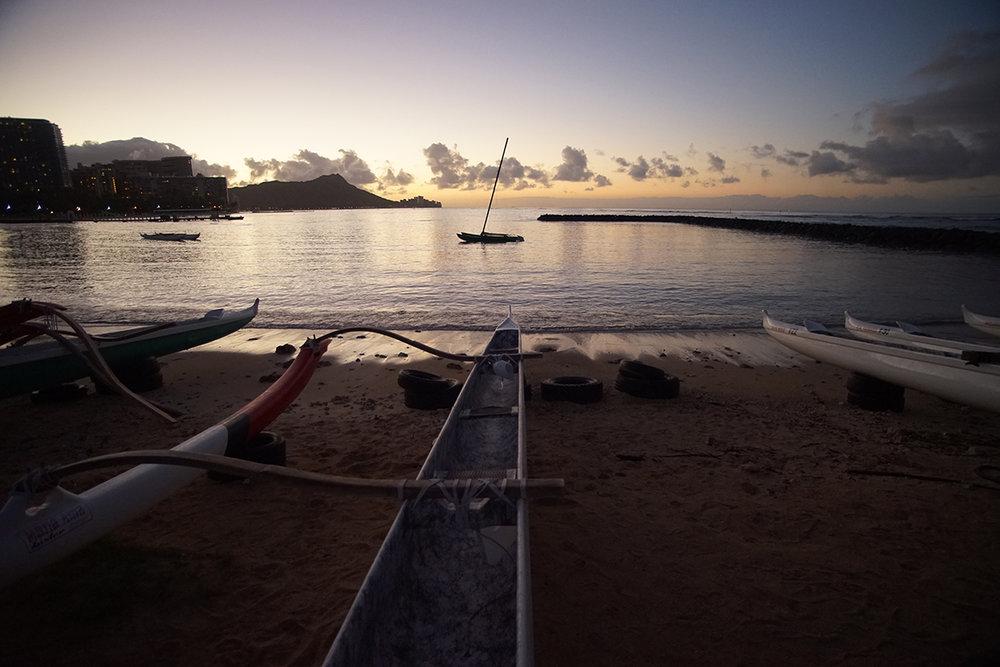 Boats on Waikiki