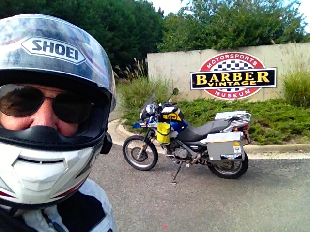 Barber Museum entrance selfie
