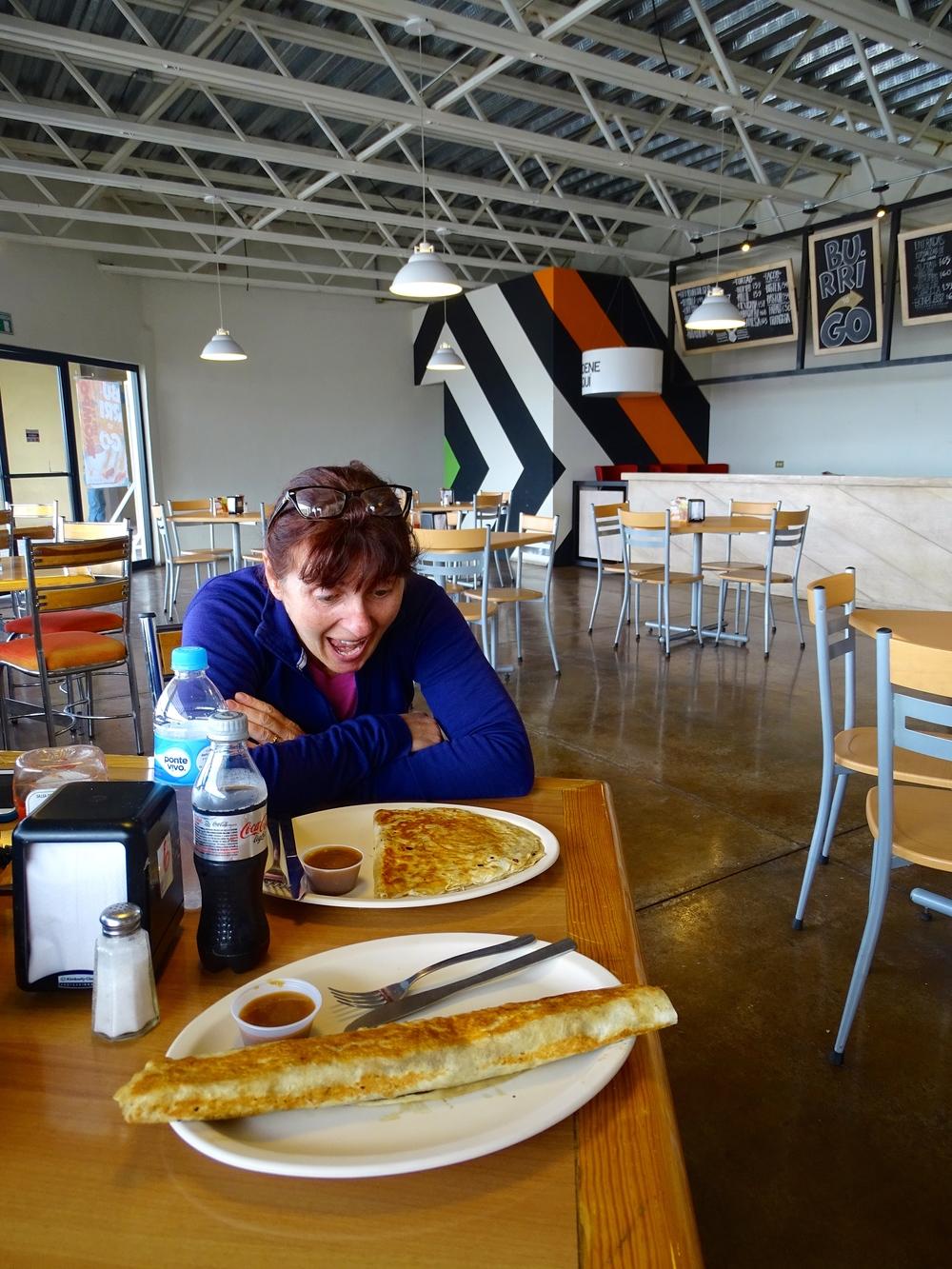 GIGANTIC Burrito & Quesadilla at...
