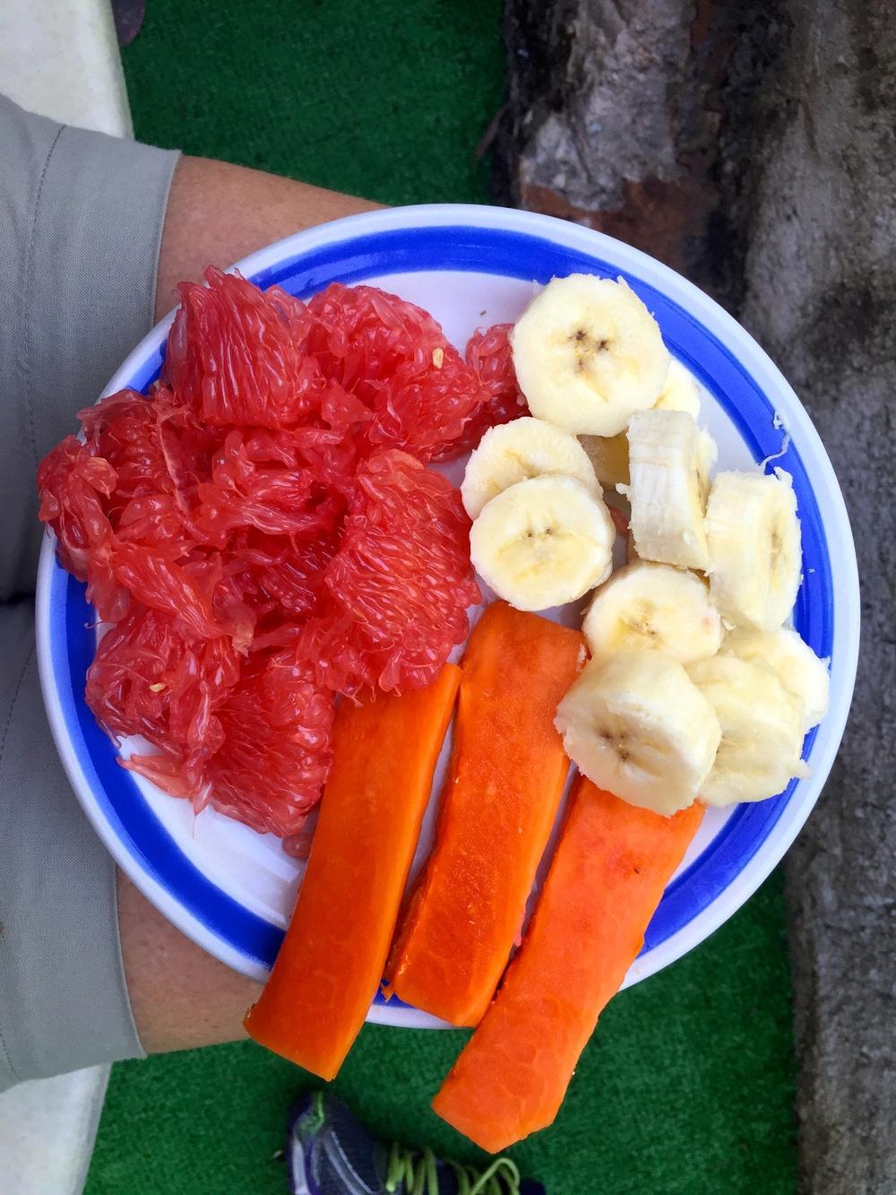 Grapefruit, Papaya, Banana...YUM!