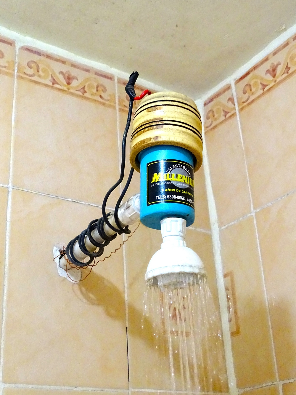 """Suicide"" Shower with Instant Hot Water"