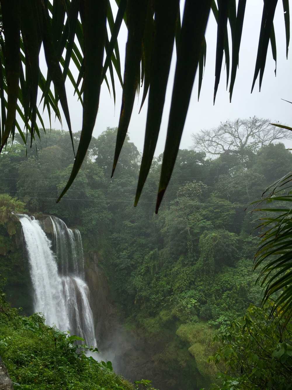 Waterfalls near Lake Yojoa in Honduras