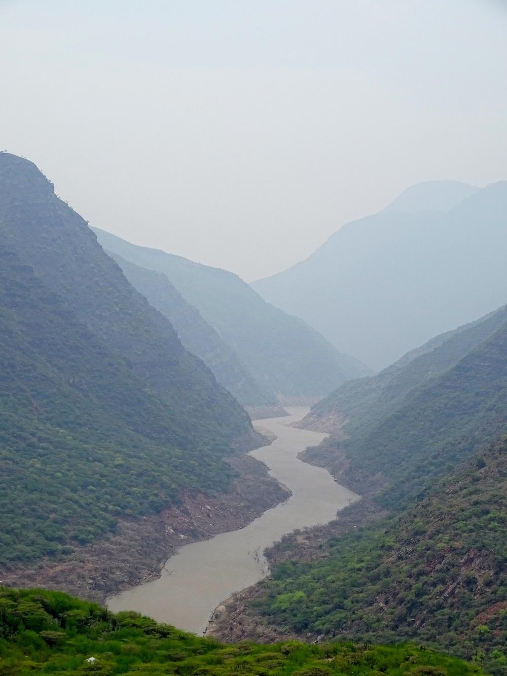 Rio Sogamosa canyon