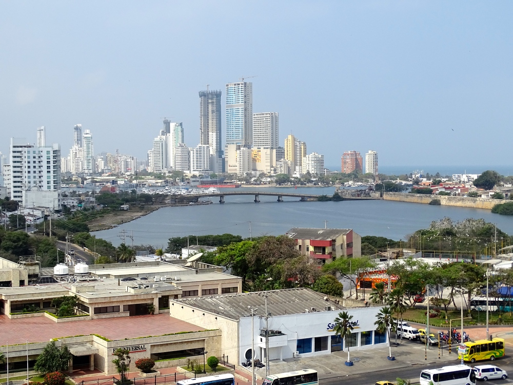 Beautiful view of Cartagena from the fortress.