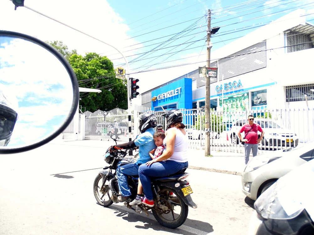 Always amazed at the number of people who can fit on a bike.