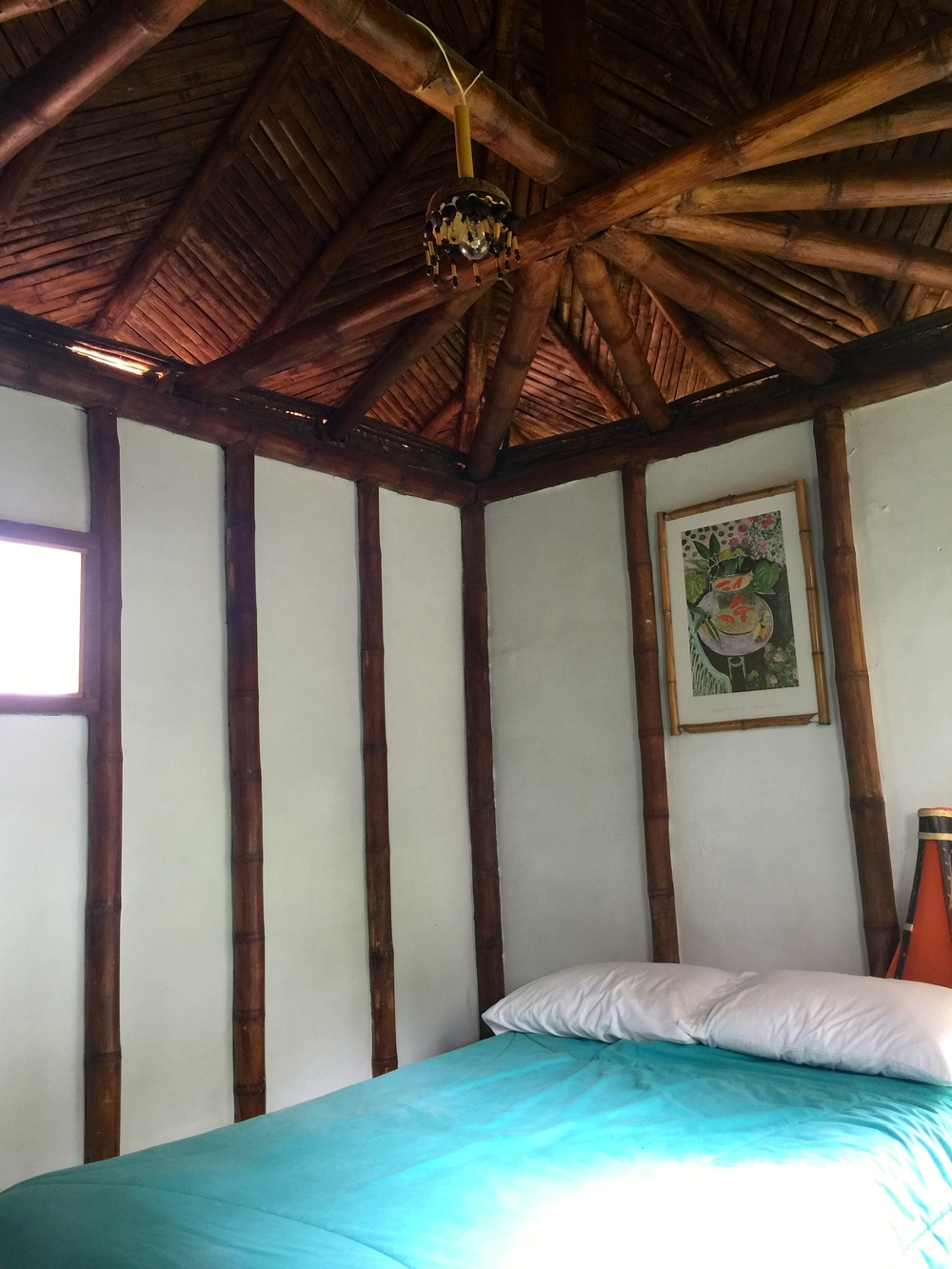 Upstairs bedroom with great view of the jungle.