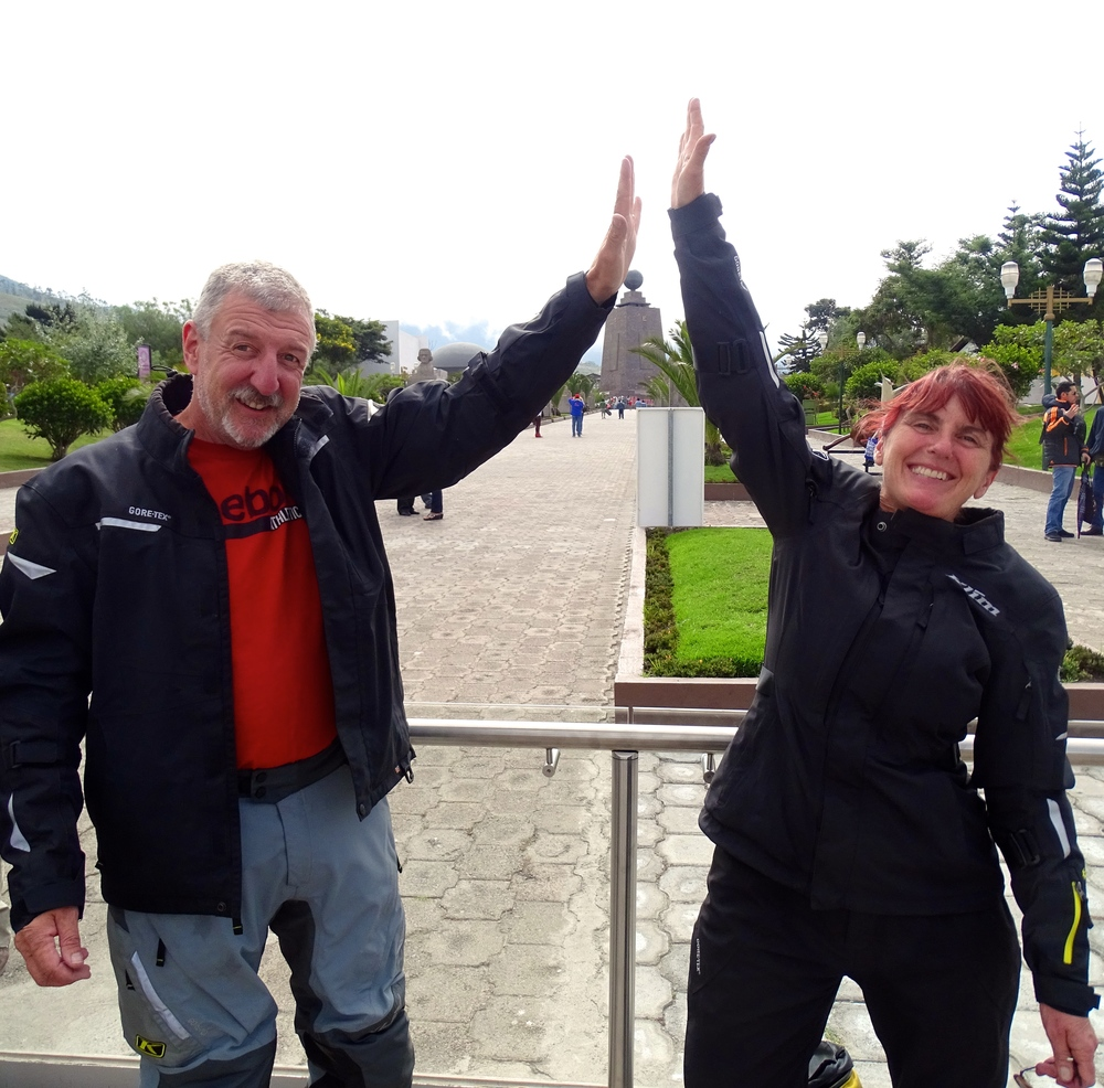 High fives at the equator!