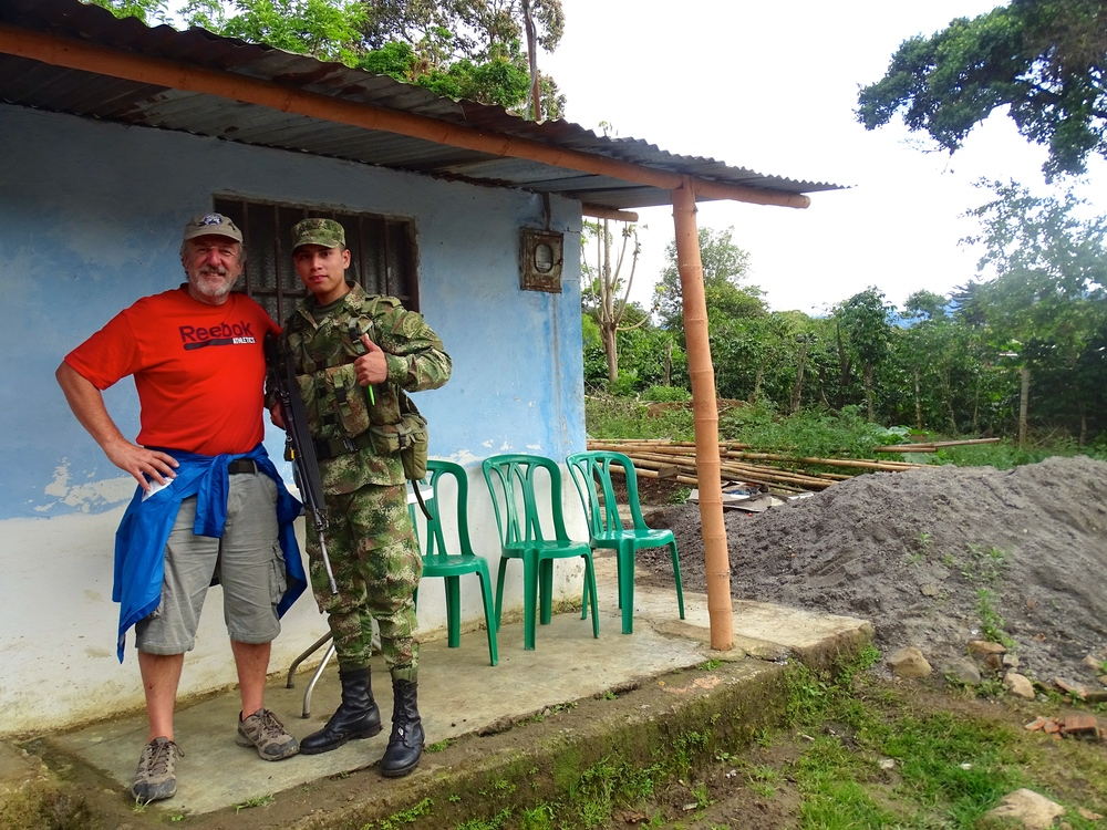 This guy helped us with directions when we were walking on the back road to our hostel in San Agustin, Colombia.