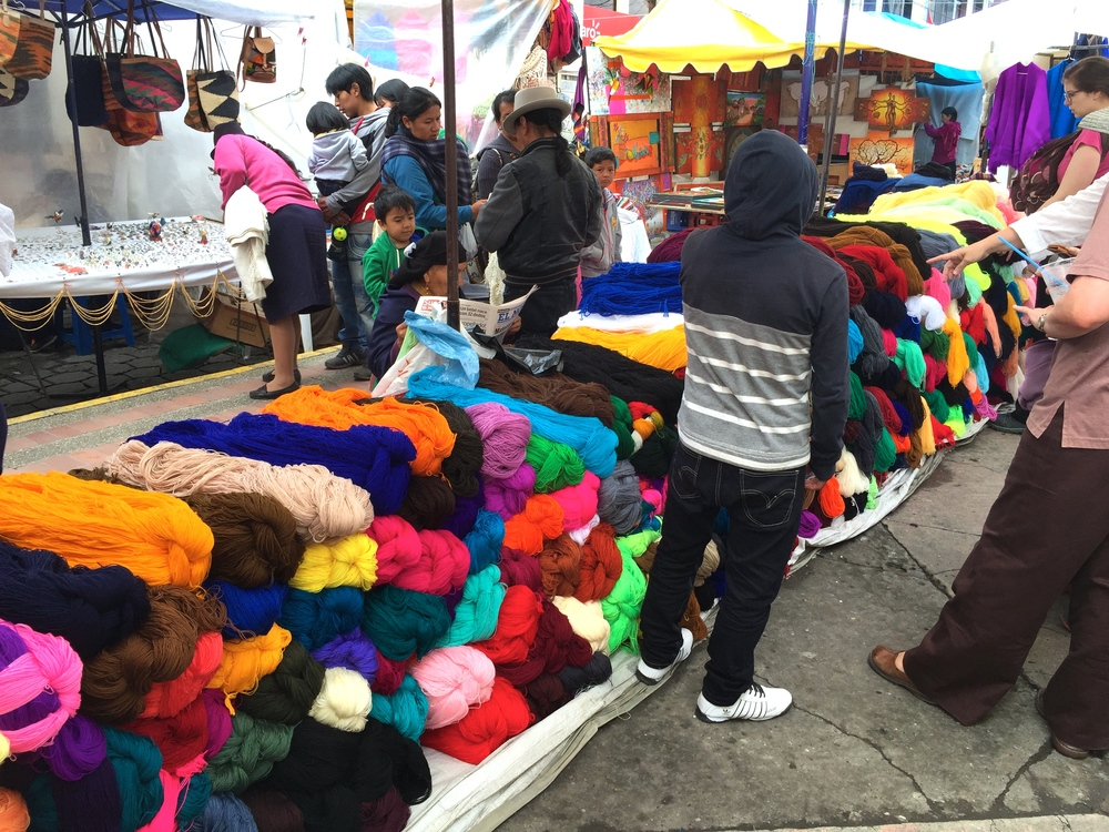 Weekly Otavalo Market - the arts area.