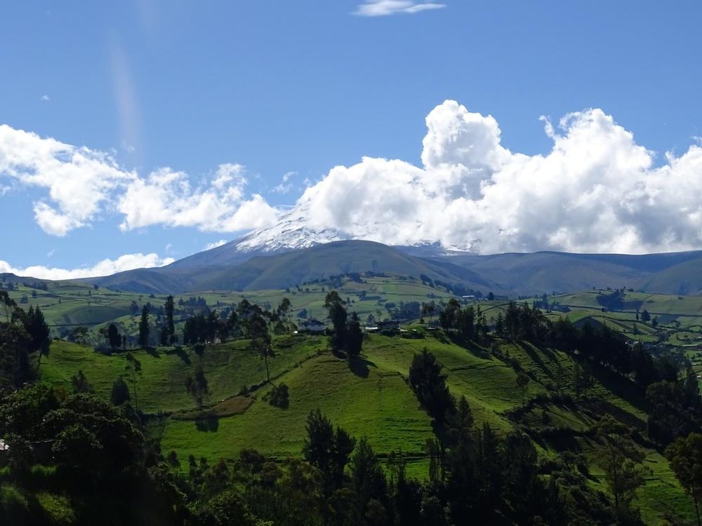 The Chimborazo Volcano is 24,683' -- REALLY BIG!
