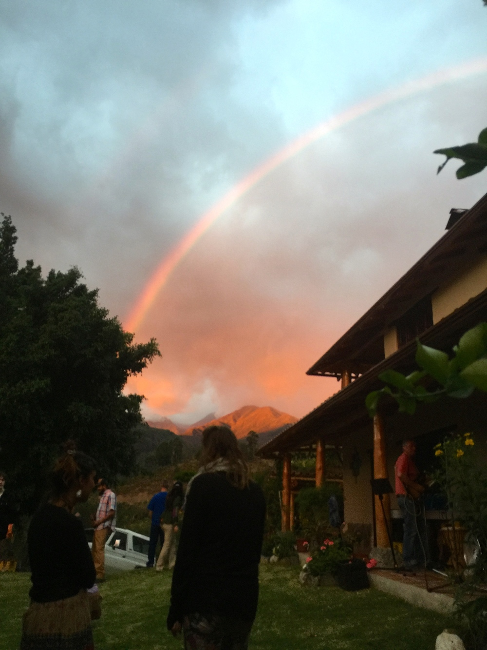 And to add a dose of magic, a rainbow appeared during the party.