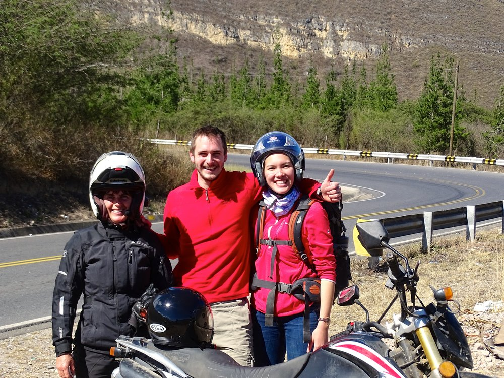 These folks rented a Chinese-brand 250 in Chachapoyas, and rode up to Gocta Falls with us.