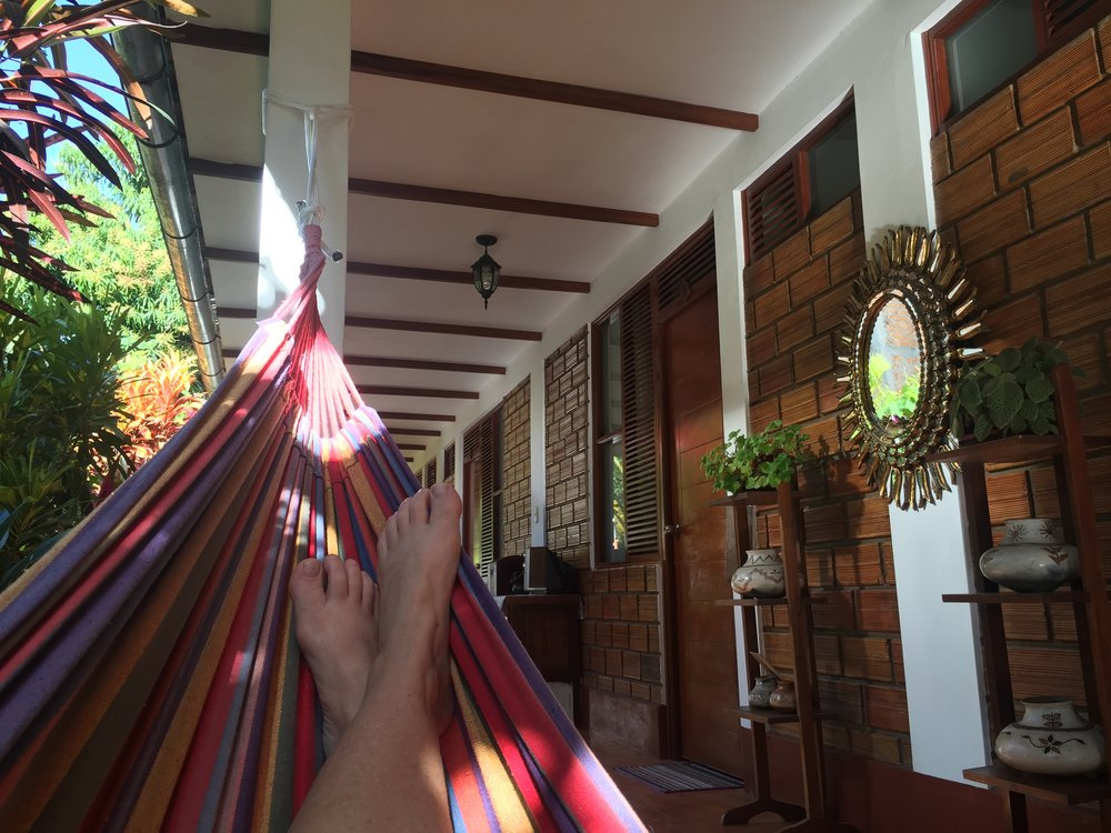 Chillin' i a hammock is the way to be on a hot Amazonia afternoon.