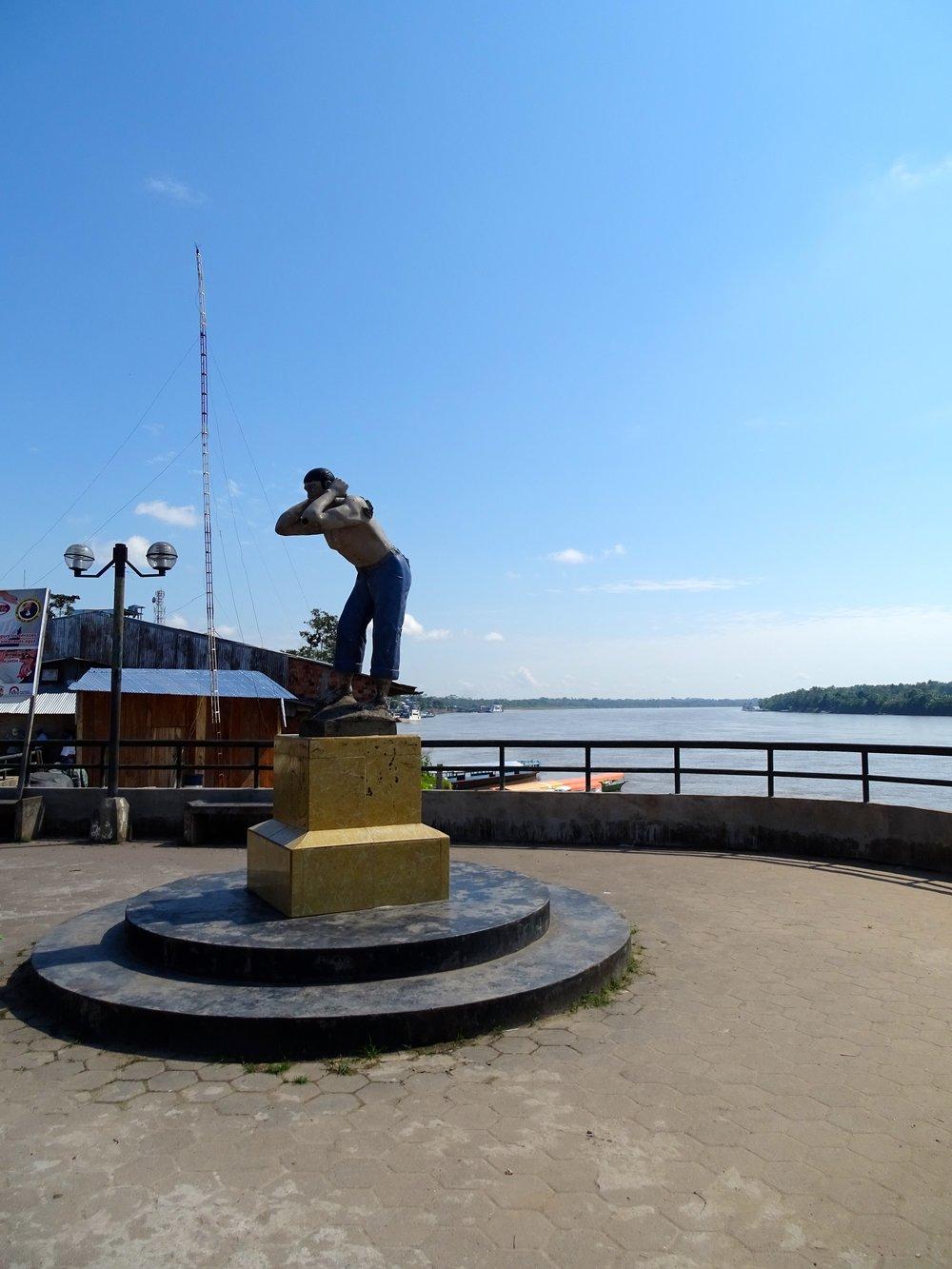 Dockworker's statue.