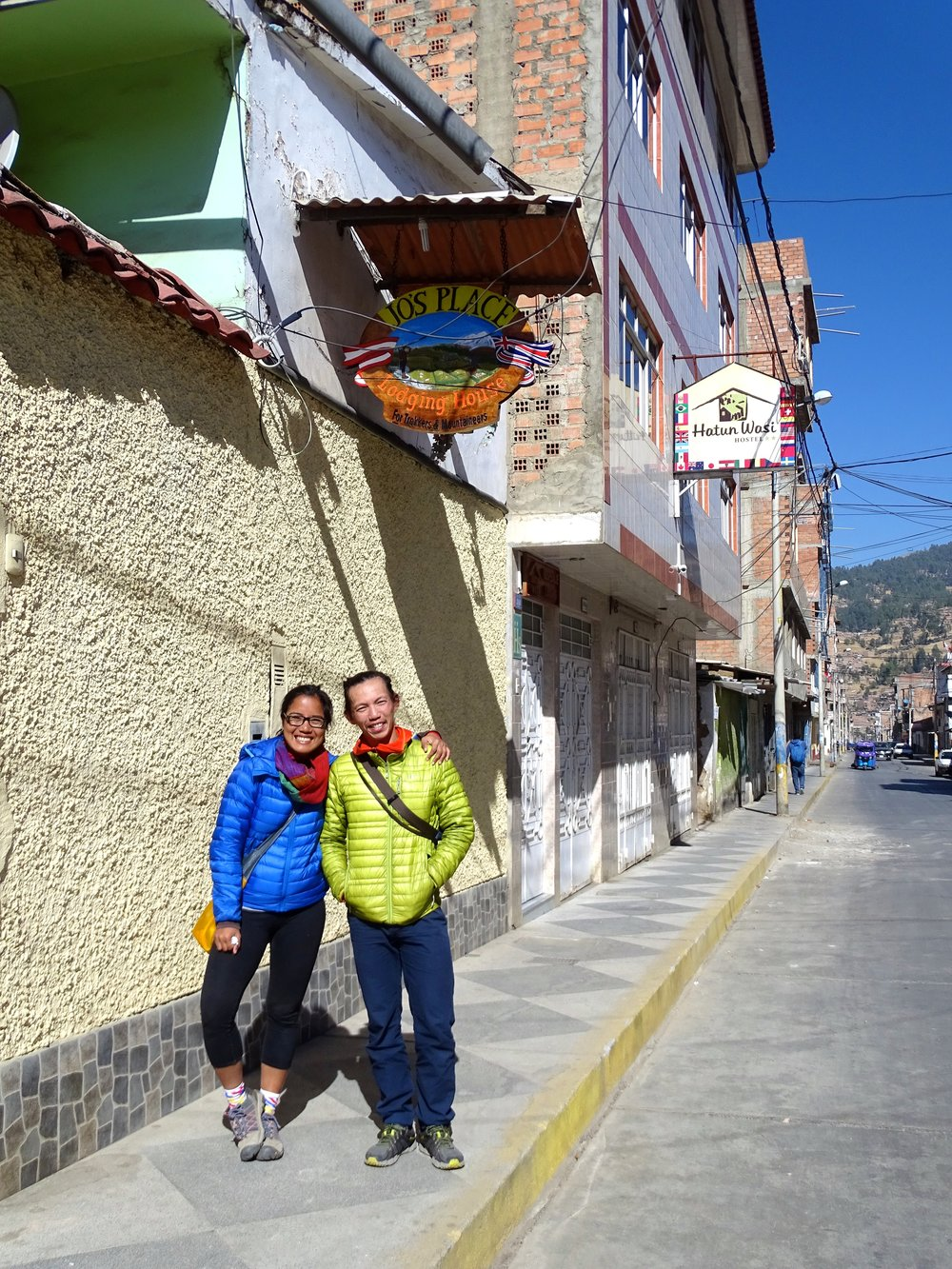 We first met RTW bicyclists Dean and Dawn (right?) in San Agustin, Colombia, and as happened so many times, we had another chance encounter in Huaraz!
