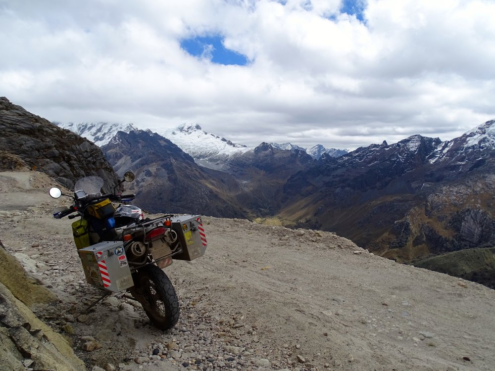 I rode up the old road going over the pass, and made it nearly to the top.  Road was washed out badly.