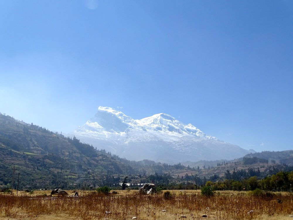 Nevado Huascarán,  Peru's highest peak.