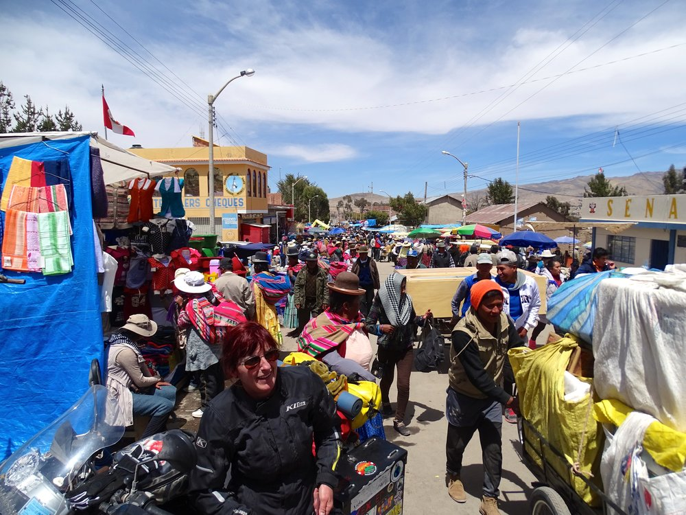 The crowds got thicker and thicker as we all converged on the border with Bolivia.