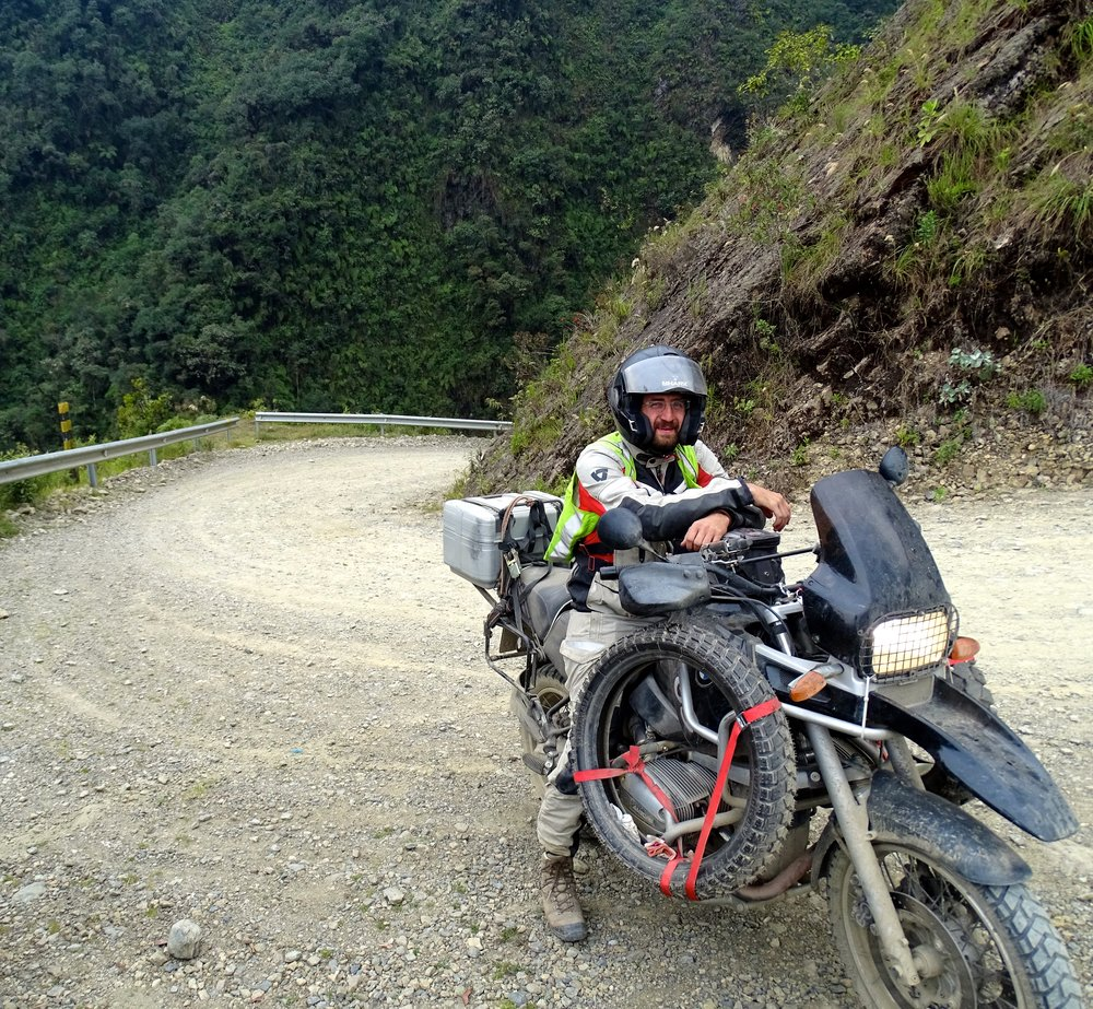 Our friend Florian, from Germany, whom we met in Coroico and rode up the Death Road with.