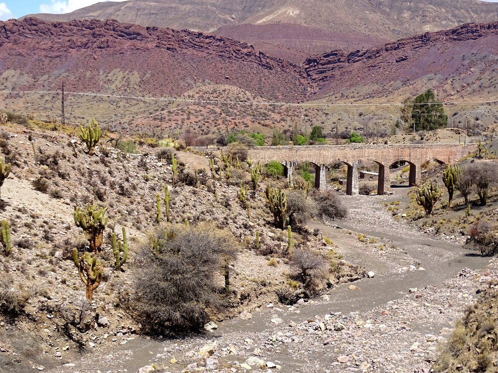 This old aqueduct carries water to places of extreme need.