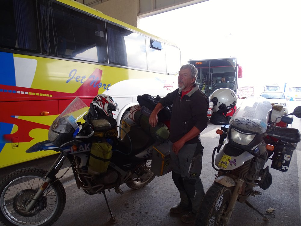 "Waiting for ""inspection"" as we entered into Chile, which didn't amount to much more that a cursory look at us."