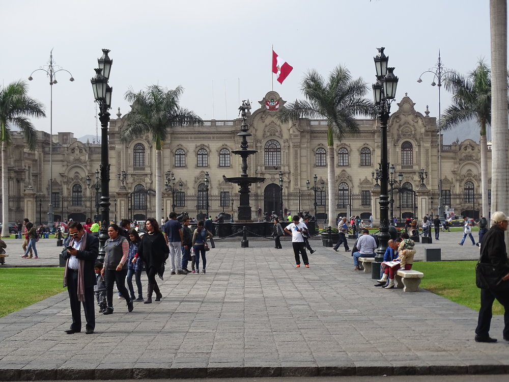 Another view of the Plaza in Lima.