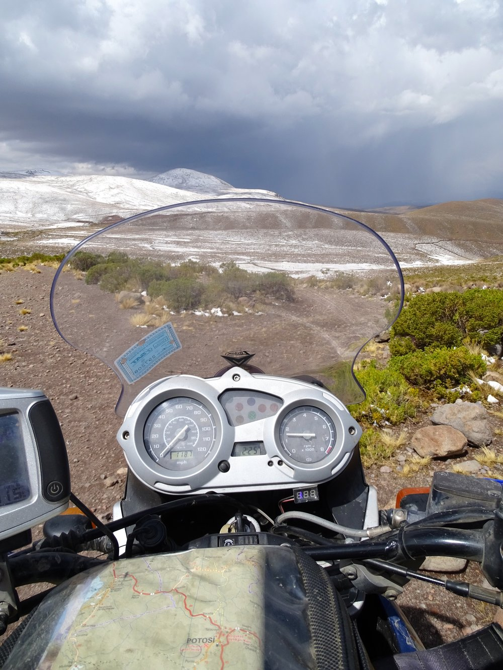 The road to Potosi, Bolivia had entertaining weather.  This is my current office environment these days.