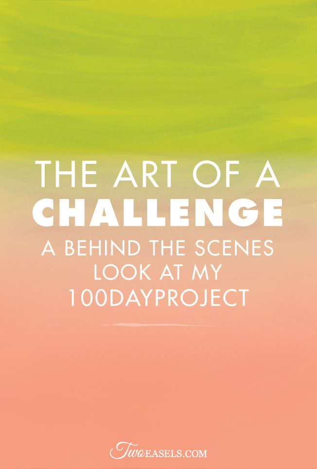 The art of a challenge. A behind the scenes look at my #100dayproject #100daysofletterbefun by @twoeasels