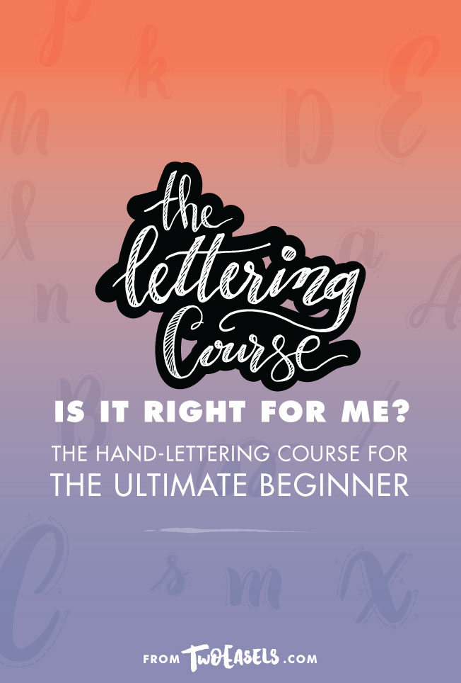Is the lettering course right for me?