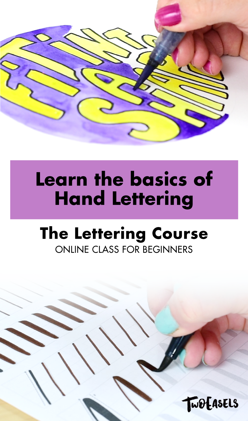 Learn the basics of hand lettering with this beginners course. Join the private community and participate in a challenge