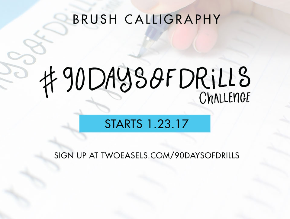 Want to take your brush calligraphy to a new level? Take this 90 day challenge.