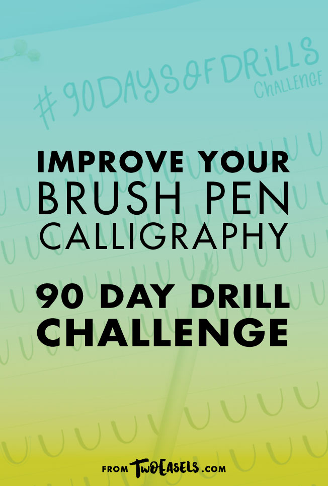 Improve your brush pen calligraphy with this #90daysofdrills challenge by @twoeasels