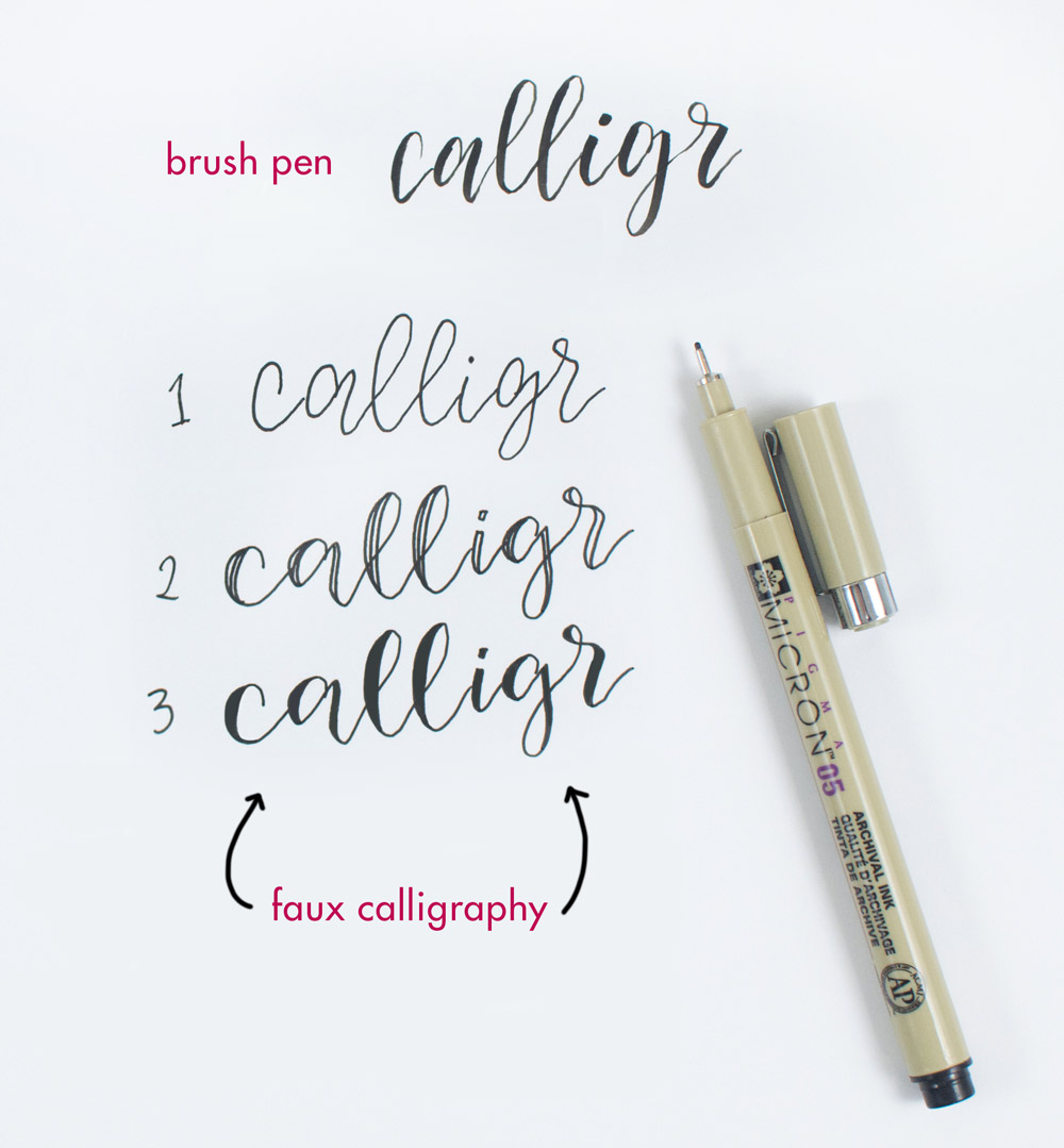 Steps to Faux Calligraphy by @twoeasels